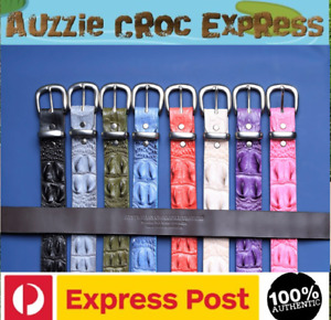Crocodile Hornback Coloured Belts-Limited Edition 38 mm wide Aussie Made