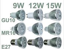 Ultra Bright CREE MR16/GU10/E27 9W 12W 15W Warm Cool LED Spotlight Bulbs