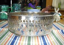 "Vintage Chrome Silver Plated Casserole 8"" Bowl Holder ~ Fiesta Go-Along ~"