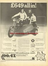 Jawa-CZ 350 Motorcycle 1977 Magazine Advert #1850