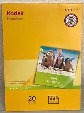 Kodak Photo Paper, Gloss, Instant Dry, 180g/m2, A4 (210x297mm)