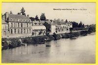 cpa 51 - MARCILLY sur SEINE (Marne) Les QUAIS Barques Débarcadères