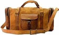 Bag Leather Large Duffle Travel Holdall Weekend Gym Sports Air Cabin  Carry on