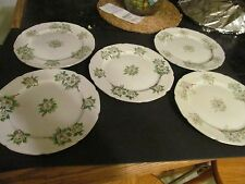 ACI FINE CHINA of JAPAN EVERGREEN White Plates  (Set of 5)