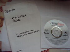 ORIGINAL QUICK START GUIDE AND CD SYNCHRONIZING MOTOROLA L-SERIES PHONES