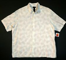 XXL Size Men's Extra Large Axcess brand Shirt Beige 100% Rayon Bowling