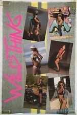 Vintage Poster Wild Thing Sexy Girl Collage Pin-up Bikini College Dorm Room