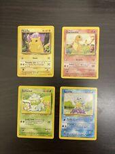 Pokemon Base Set Unlimited Starters W/Pikachu NM 1999 WOTC Starters