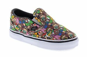 Vans Toddler Classic Slip-On Super Mario Brothers Multi Color Sneakers T 4.5
