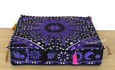 Purple Burning Sun Indian Mandala Square Cushion Cover Home Decor Pillows Covers