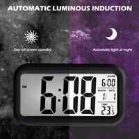 Digital LED Clock Alarm Clock Temperature Display Réveil numérique Capteur ME