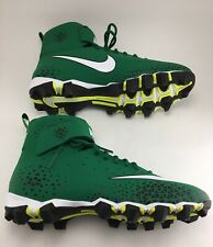 Nike Cleats mid top ankle support Green Men's Size 10M NEW Swoosh Logo Front