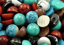 50pcs 12mm Mixed Color Round Cabochons Flatback Craft Setting Glue On Deco F895