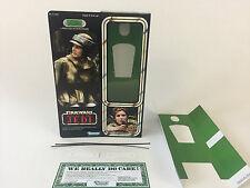 "Custom Vintage Star Wars Rotj 12"" Princesa Leia Combat Poncho Caja + Insertos"