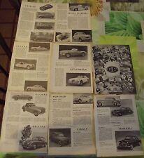 Document Salon de l'Automobile 1954 Grande Bretagne Aston Martin Rolls Royce