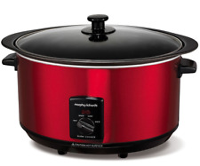 NEW Morphy Richards Sear Stew Slow Cooker 6.5L Red Sear Pot 461000