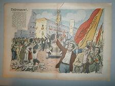 Gravure couleur  Libération de Madrid guerre d'Espagne