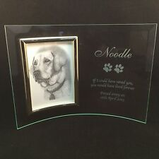 Personalised Engraved Glass 6x4 Photo Frame - In Loving Memory Pet Memorial Dog