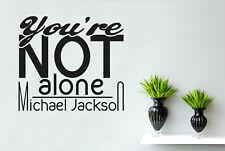 Michael Jackson You Re Not Alone Vinilo Pegatinas De Pared Adhesivo Decoración