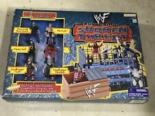 WWF WWE JAKKS SUDDEN THREAT ACTION MINI MICRO RING AND MINI FIGURES MOC