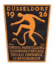 REKLAMEMARKE GERMANY POSTER STAMP EXHIBITION OF HEALTHCARE DUSSELDORF 1926
