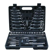 Bridgeland 125pc Mechanics Tool Set Household Hand Tool Kit Socket Wrench Set