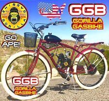 "48cc 66cc 80cc 2-STROKE MOTORIZED BIKE KIT WITH 26"" CRUISER BICYCLE DIY POWERFUL"