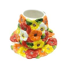 Home Interiors 2 Piece Jar Candle Topper & Plate Flowers Floral