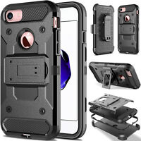For iPhone 8 7 6s Plus Belt Clip Holster Stand Hard Armor Shockproof Case Cover