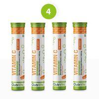 Vitamin C 1000mg 80 Effervescent Orange Tablets   High Strength Immune ClubVits