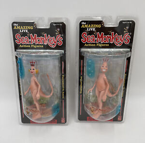 The Amazing Live Sea Monkeys Action Figures Majestic Studios Mom & Dad New