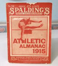 Spalding's Athletic Almanac 1915 James E. Sullivan AAU Founder Memoriam Bio.