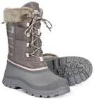 TRESPASS LADIES WATERPROOF THERMAL WINTER SNOW BOOTS GREY BLACK 4-37 to 8-41