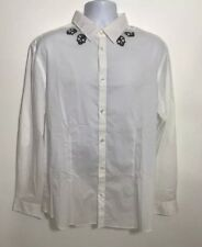 "Jack & Jones Men's Skull Print Casual White Soft Shirt Slim Fit XXL Chest 46"""