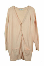 ♥ ZARA ♥ LONG GILET CHINé ROSE T. 40