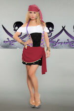 Lady PIRATE Costume Dress Bandana Do Rag Adult Medium Large 8 10 12 Renaissance