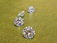 TWO  PCS - 0.50 Carat Russian Sim Diamond BRILLIANT CUT WHITE 5.25 MM