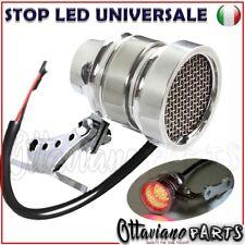 Stop Moto Custom Led Cafe Racer Universale Cromato Staffa M160