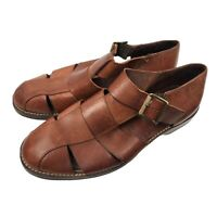 Cole Haan Country 1465 Men Fisherman Leather Sandal Close Toe Size 12 D EUC