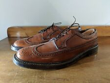 Florsheim Imperial Size 12 B Brown Leather 5 Nail V Cleat Wing Tip Dress Shoes