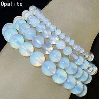 Handmade Natural 4mm 6mm 8mm 10mm Opalite Gemstone Beads Stretch Bracelet