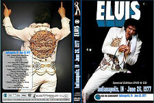 ELVIS -  HIS LAST CONCERT - INDIANAPOLIS 77 - DVD + CD