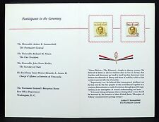 USA CHAMPION of Liberty STAMP ceremony FDC Program 1958 solo tag lettera (i-3169+