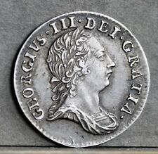 More details for george iii sterling silver threepence, 1763. strong ef. lovely tone.