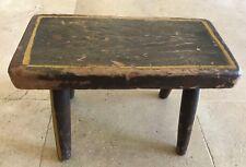 """Rustic Vintage Stool Decorative Wood 11.25""""L x 5.75""""W x 7.75""""H"""