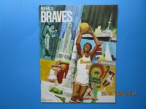 VINTAGE 1970-71 BUFFALO BRAVES VS. DETROIT PISTONS INAUGURAL SEASON PROGRAM