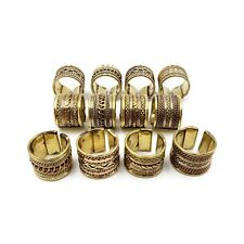 Brass Copper Rings Lot of Wholesale Fashion Jewelry Three Tone FR594