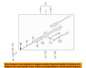 Mercury FORD OEM 05-07 Montego Steering Gear-Inner Tie Rod Nut W302403S300
