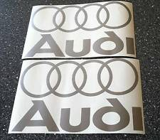 Audi Decals/Stickers x 2 Size 208mm x 130mms