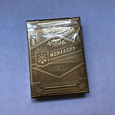 Rare Playing Cards New Sealed, Gold Monarchs Theory11 Limited Edition Magic